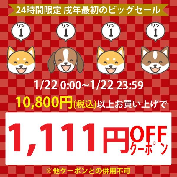 【リスヤ】ワンワンワンワンクーポン!〈1,111円OFF〉