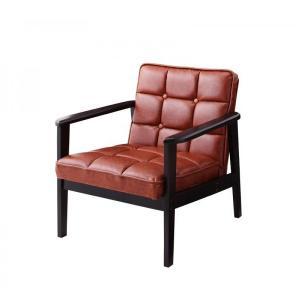 一人掛けソファ おしゃれ 一人掛けソファー 一人掛けチェア 肘付き 椅子 合皮 チェア 肘付きソファ コンパクト 木製 レトロ ヴィンテージ|ritmato|13