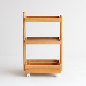 ワゴン キャスター付き 木製 おしゃれ 3段 白 ホワイト ナチュラル キッチンワゴン ランドセルラック|ritmato|15