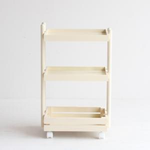 ワゴン キャスター付き 木製 おしゃれ 3段 白 ホワイト ナチュラル キッチンワゴン ランドセルラック|ritmato|16