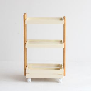ワゴン キャスター付き 木製 おしゃれ 3段 白 ホワイト ナチュラル キッチンワゴン ランドセルラック|ritmato|18