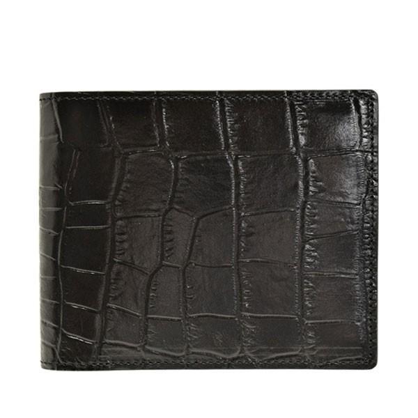 リンレ RINRE 財布 クロコ型押しレザー 革 極薄 折財布 二つ折り 国産 3001 メンズ|riverall-men|08