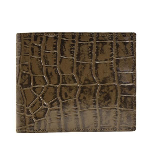 リンレ RINRE 財布 クロコ型押しレザー 革 極薄 折財布 二つ折り 国産 3001 メンズ|riverall-men|09