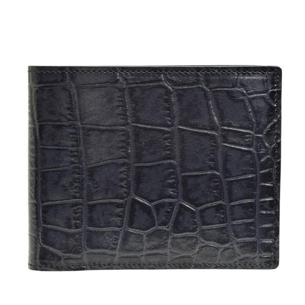 リンレ RINRE 財布 クロコ型押しレザー 革 極薄 折財布 二つ折り 国産 3001 メンズ|riverall-men|10