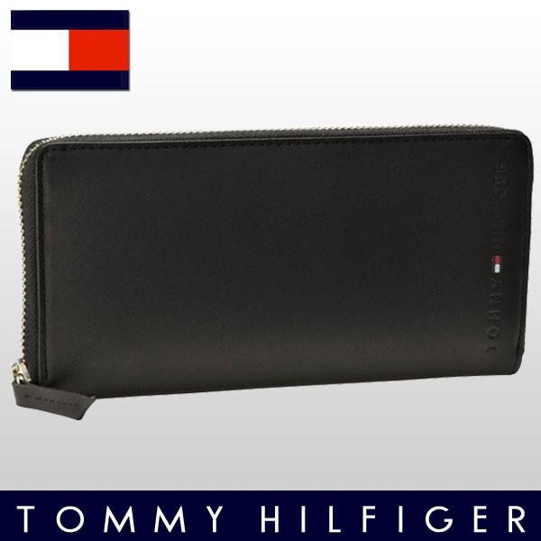 【P交換】トミーヒルフィガー 財布 TOMMY HILFIGER 財布 メンズ ラウンドファスナー長財布 ブラック レザー 31tl13x015-001 【YDKG-m】/【Luxury Brand Selection】