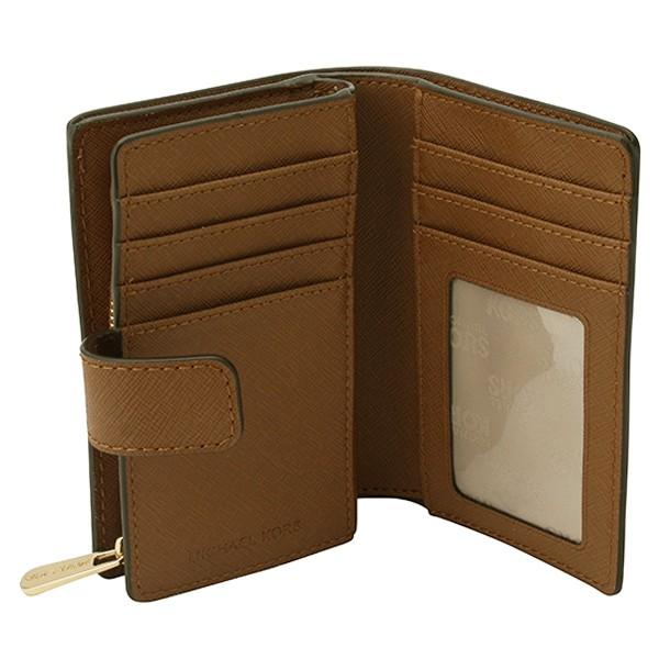 マイケル マイケルコース MICHAEL MICHAEL KORS  L字ファスナー二つ折財布 ブラウン 35f7gtvf2l-luggage アウトレット