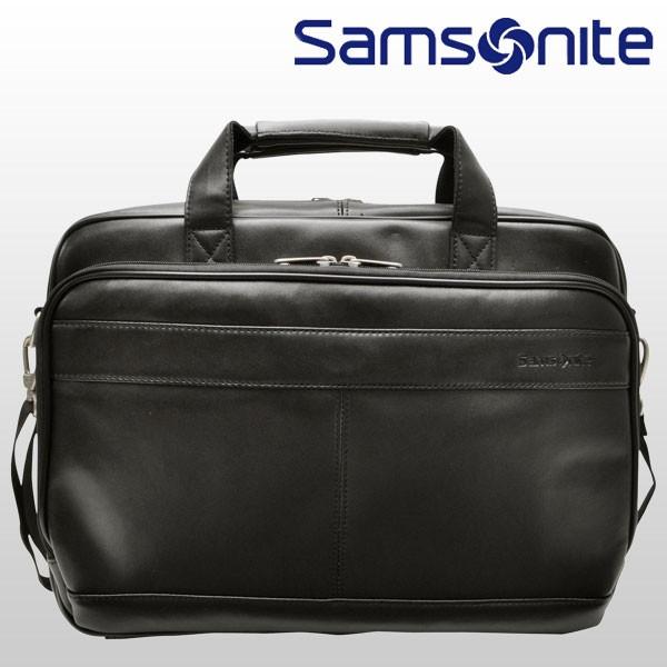 サムソナイト バッグ Samsonite BAG LEATHER BUSSINESS CASES ブリーフケース ブラック レザー 48073-1041 【YDKG-m】/【Luxury Brand Selection】