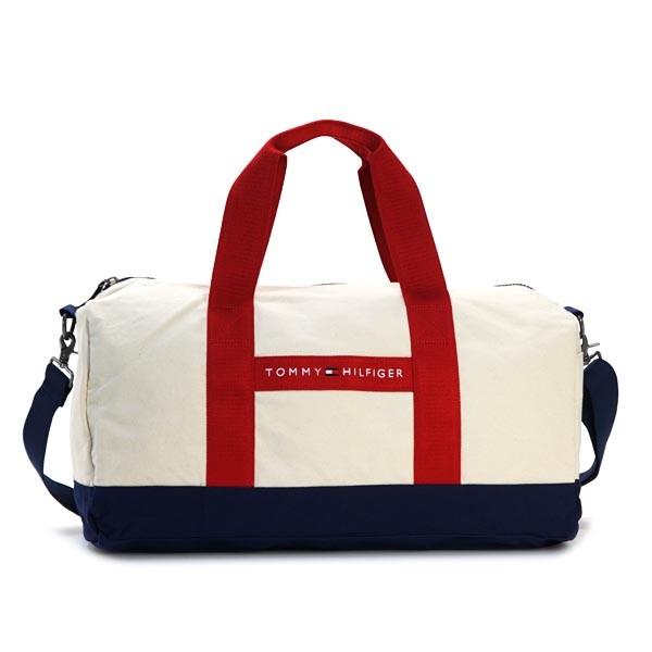 【P交換】トミーヒルフィガー Bag TOMMY HILFIGER バッグ TH SPORT 斜め掛け2way ボストン NATURALRED NT CANVAS コットン 6926158-467