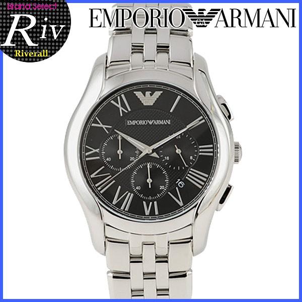 【スペシャルセール】エンポリオアルマーニ EMPORIO ARMANI 44mm クラシックウォッチ メンズ クロノグラフ 腕時計 ブラック×シルバー ステンレススティール ar1786
