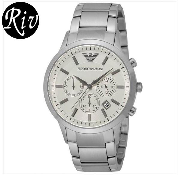 [厳選]エンポリオ・アルマーニ EMPORIO ARMANI 腕時計 スポルティボ メンズ シルバー ar2458