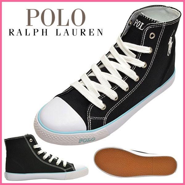 ポロ ラルフローレン Polo Ralph Lauren スニーカー ブラック キャンバス×ラバー carsonhib ガールズ・ジュニア 【Luxury Brand Selection】