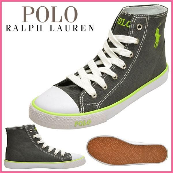 ポロ ラルフローレン Polo Ralph Lauren スニーカー グレー キャンバス×ラバー carsonhig ガールズ・ジュニア 【Luxury Brand Selection】