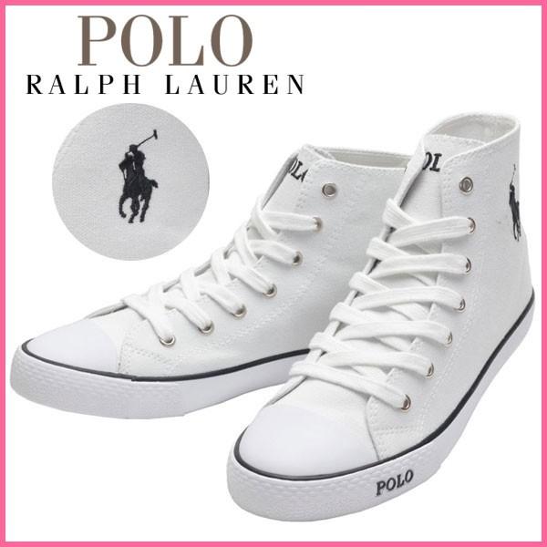 ポロ ラルフローレン Polo Ralph Lauren スニーカー ホワイト キャンバス×ラバー carsonhiw ガールズ・ジュニア 【Luxury Brand Selection】