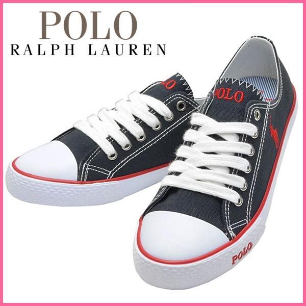 ポロ ラルフローレン Polo Ralph Lauren スニーカー ネイビー キャンバス×ラバー carsonlacen ガールズ・ジュニア 【Luxury Brand Selection】