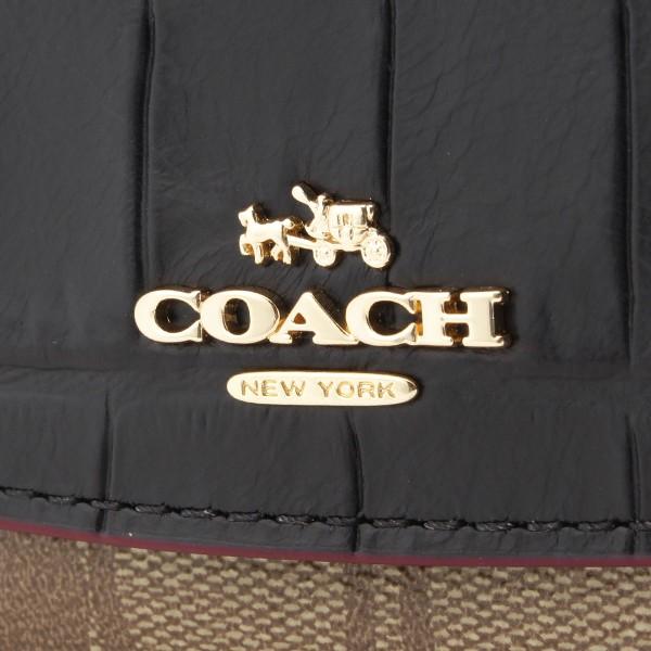 【メルマガ】コーチ COACH シグネチャー 二つ折り長財布 カーキ×ブラック f24354imcbi アウトレット