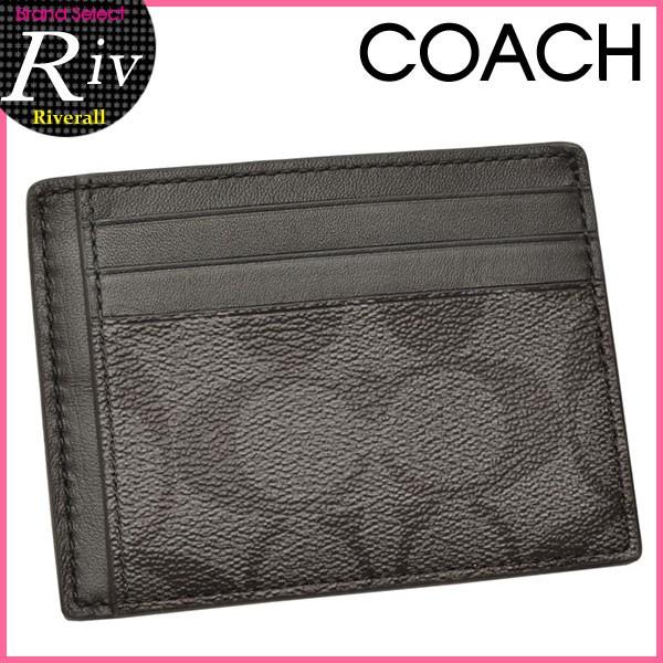 コーチ COACH メンズ パスケース カードケース チャコール×ブラック PVC×レザー f75027cqbk アウトレット