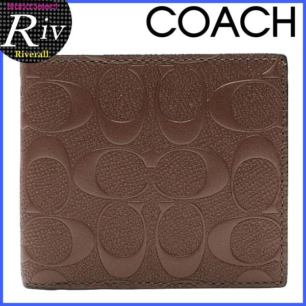 【P交換】コーチ 財布 COACH 財布 メンズ 二つ折り財布 マホガニー クロスグレインレザー f75363mah アウトレット