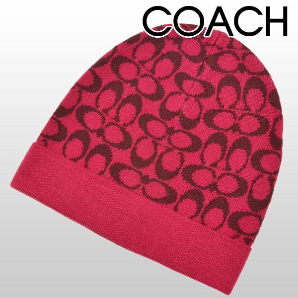 【セール】コーチ COACH ニット帽子 ラズベリー×シェリー メリノウール55%×アクリル45% f85207dne アウトレット 【smtb-m】/【YDKG-m】/【Luxury Brand Selection】