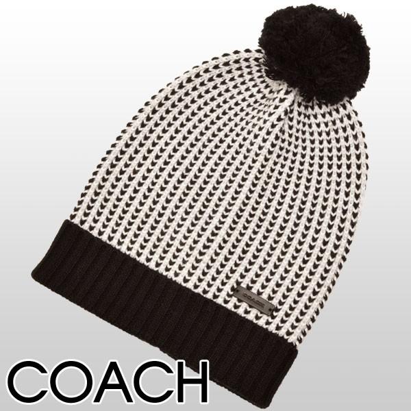 【セール】コーチ COACH チェック柄 タックステッチ ニット帽子 ブラックマルチ ウール55%×コットン45% f85213bkmc アウトレット 【smtb-m】/【YDKG-m】/【Luxury Brand Selection】