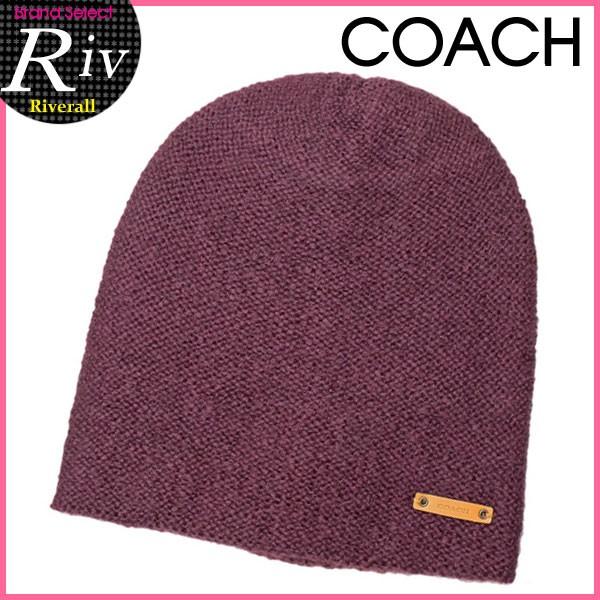 【セール】コーチ COACH ビーニー ニット帽子 ブライトベリー アクリル74%×モヘヤ20%×ナイロン6% f86028eak アウトレット 【YDKG-m】/【Luxury Brand Selection】