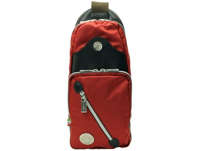 【スペシャルセール】スペシャルセールオロビアンコ バッグ OROBIANCO BAG メンズ ボディーバッグ スリングバッグ レッド×マローネブラウン ナイロン×レザー ibridello-hb-ross 【YDKG-m】/【Luxury Brand Selection】