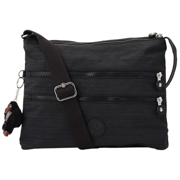 【P交換】キプリング KIPLING SMALL SHOULDER BAG (ACROSS BODY) 斜め掛けショルダー ブラック DAZZ BLACK ナイロン k12472-h53