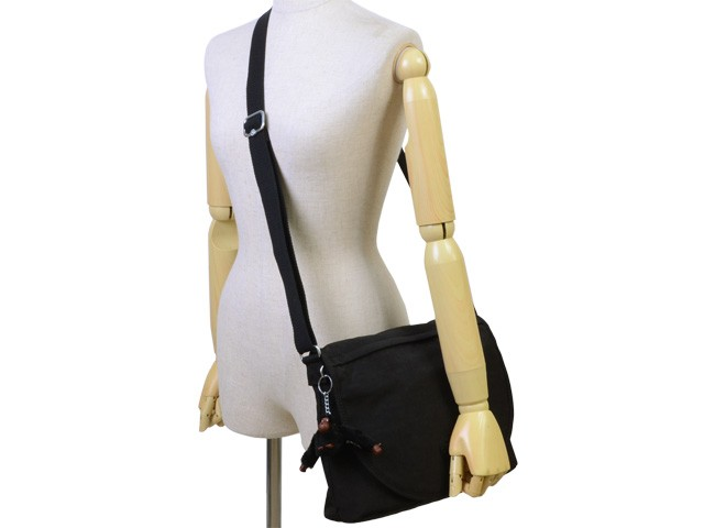 【P交換】キプリング バッグ KIPLING BAG Orleane 斜めがけショルダー バッグ ブラック ナイロン k16620-900