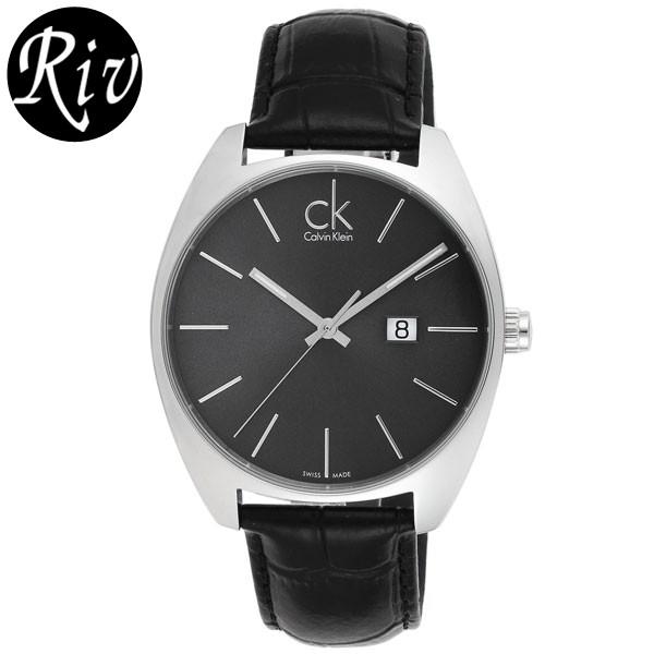 [厳選]カルバンクライン Calvin Klein 腕時計 エクスチェンジ メンズ ブラック レザー k2f211-07 【Luxury Brand Selection】