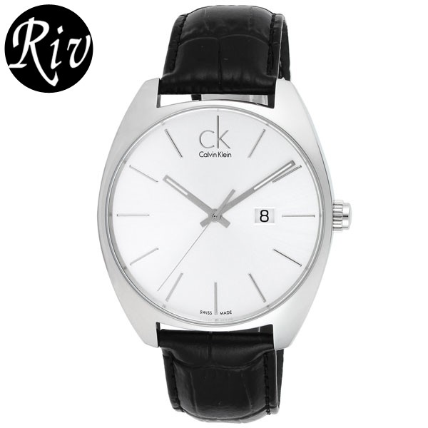 [厳選]カルバンクライン Calvin Klein 腕時計 エクスチェンジ メンズ シルバー レザー k2f211-20 【Luxury Brand Selection】