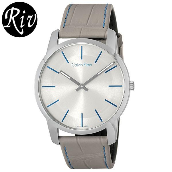 [厳選]カルバンクライン Calvin Klein 腕時計 シティ メンズ グレー レザー k2g211-q4 【Luxury Brand Selection】