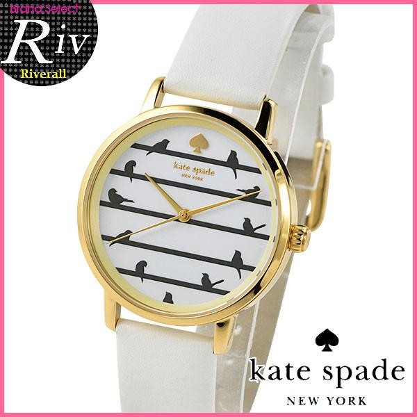 【スペシャルセール】ケイトスペード KATE SPADE METRO 34mm レディース 腕時計 ホワイト×ゴールド ステンレス×レザー ksw1043 【YDKG-m】/【Luxury Brand Selection】