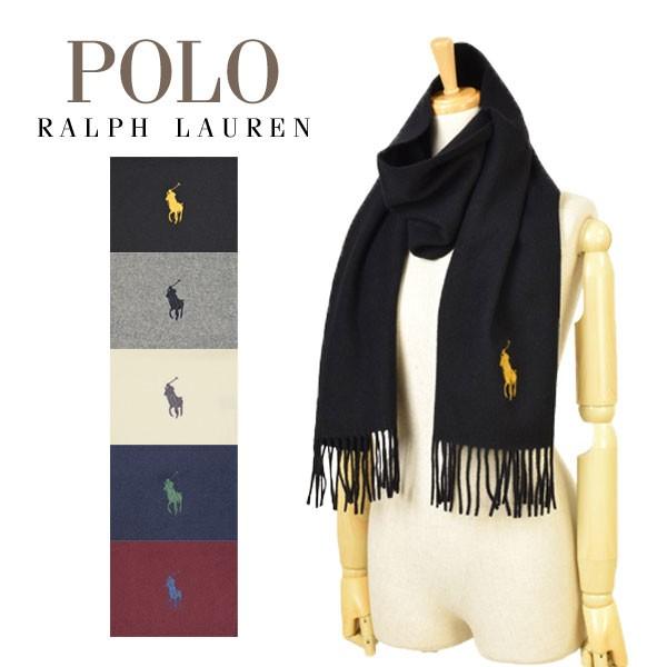 ポロ ラルフローレン Polo Ralph Lauren 【選べる5色】 Big Pony Embroodiered Scarf メンズ レディース マフラー pc0005