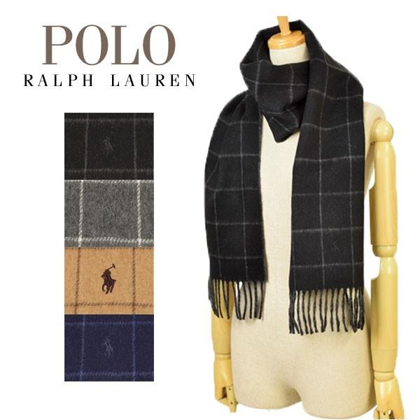 ポロ ラルフローレン Polo Ralph Lauren 【選べる4色】 Reversible windowpane メンズ レディース チェック マフラー pc0010