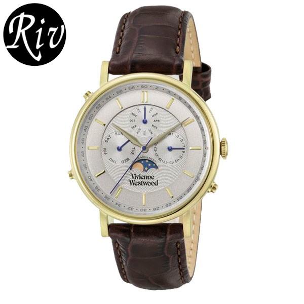 [厳選]ヴィヴィアン・ウエストウッド Vivienne Westwood 腕時計 メンズ ブラウン vv164chbr