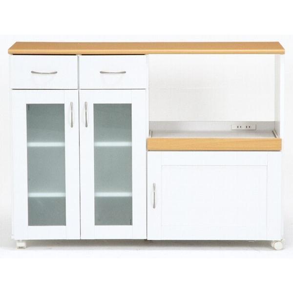 キッチンカウンター カウンターテーブル 食器棚 レンジ台 下収納 間仕切り 120 118 キャスター付き キッチンワゴン おしゃれ 人気|riverp|09