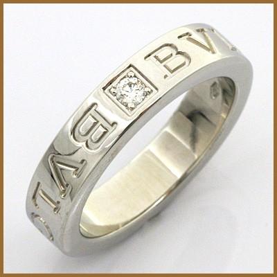 60fdc411b84e ブルガリ リング 指輪 レディース 18金 K18WG ダイヤモンド BVLGARI 7.5 ...