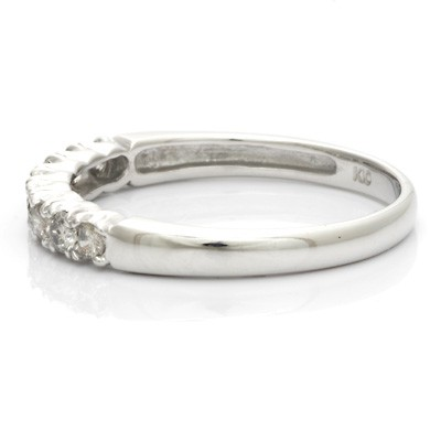 K10WG ダイヤモンドリング D0.30 ハーフエタニティ 10金