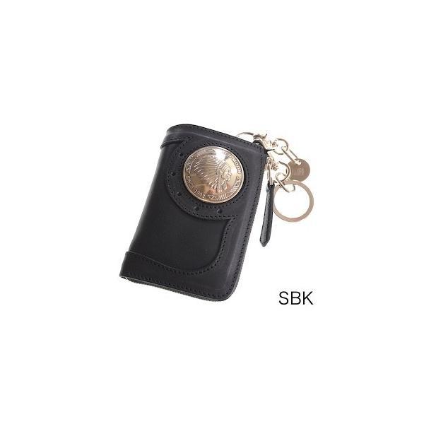 レッドムーン ウォレットREDMOON ハーフウォレット BAREBACK-01A51 L字ファスナー 51mmコンチョ サドルレザー 財布|rmismfukuoka|07