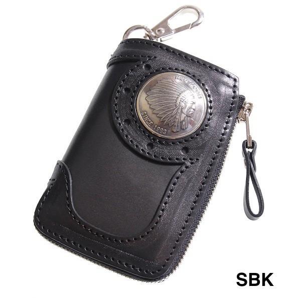 レッドムーン キーケース REDMOON BB-LZKC-L 38mmコンチョ L字ファスナー ベアバッグデザイン【送料無料】|rmismfukuoka|04
