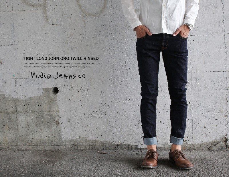 【Nudie Jeans】 11.5オンスパワーストレッチリジットデニムパンツ