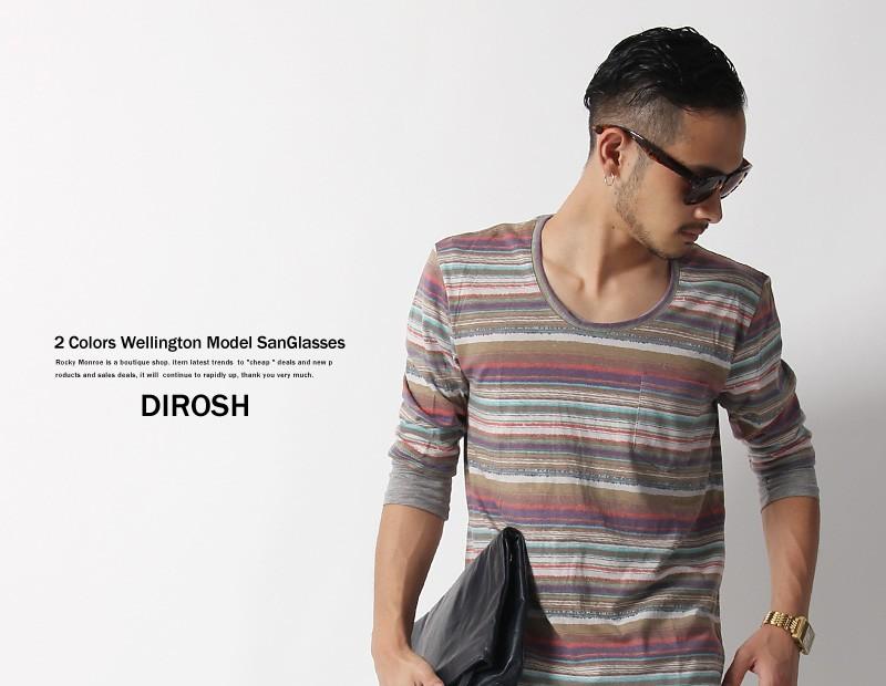 【DIROSH/ディロッシュ】UVカットレンズハードケース付ウエリントン型サングラス
