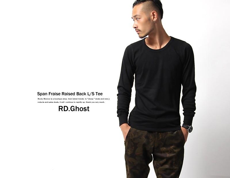 【RD.Ghost】裏起毛スパンフライスクルーネック長袖Tシャツカットソー