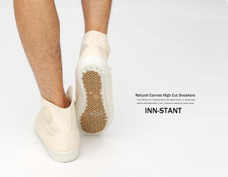 【INN-STANT/インスタント】ハイカットキャンバススニーカー