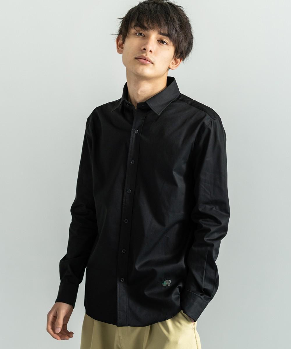【RD.Ghost】日本製/国産ピッグ刺繍入り長袖ツイルシャツ