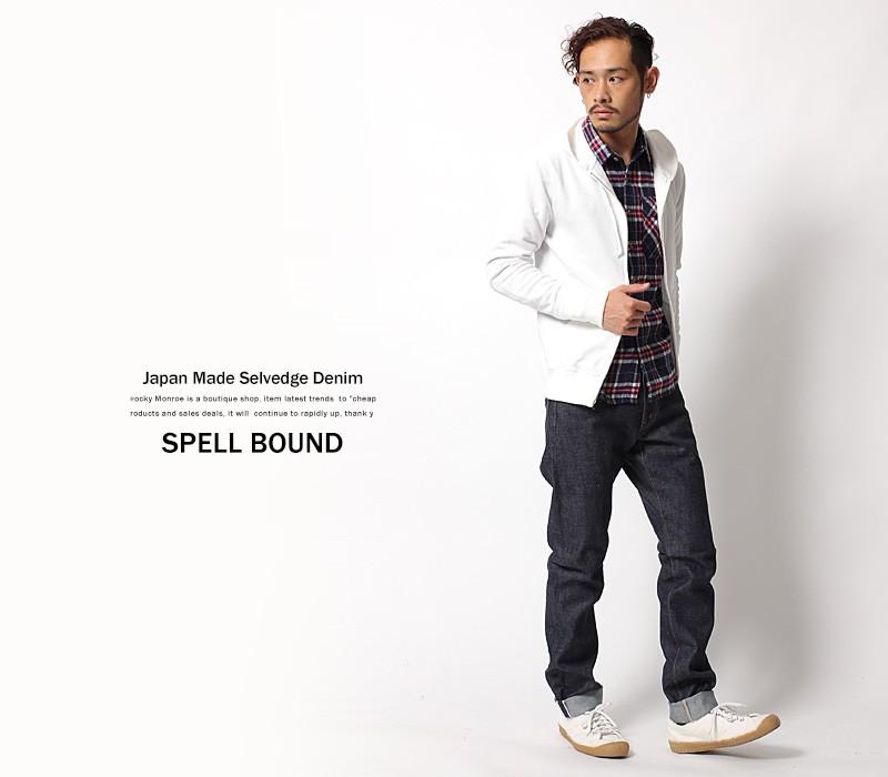 【SPELL BOUND/スペルバウンド】日本製/国産5Pスタンダードフィットセルヴィッチデニム