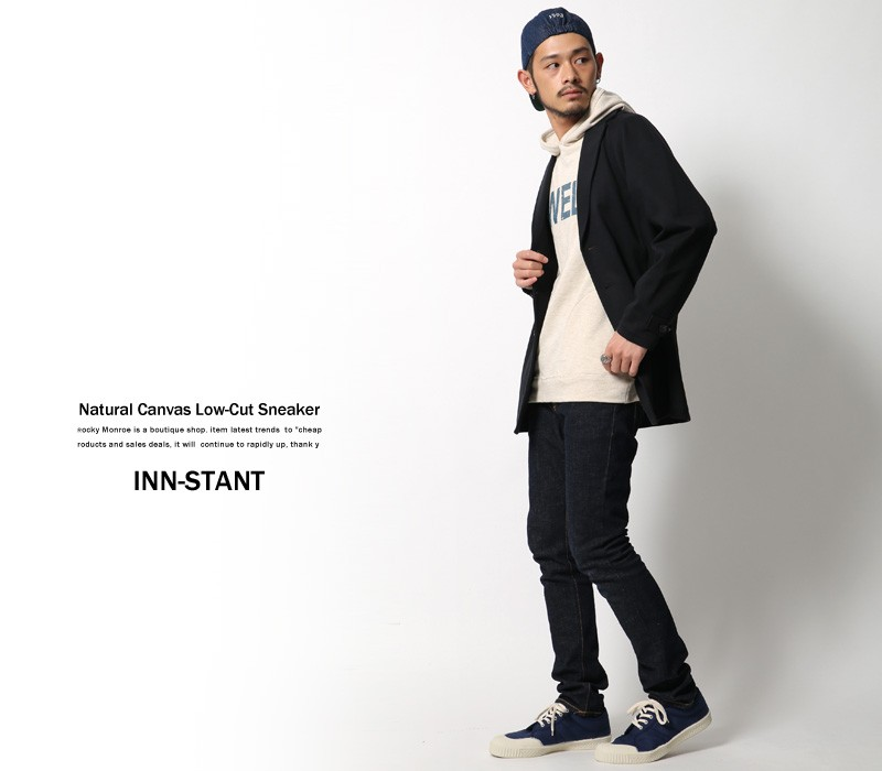【INN-STANT/インスタント】ナチュラルキャンバスローカットスニーカー