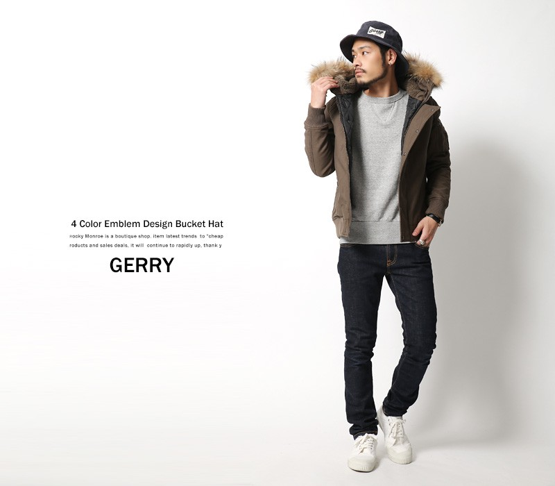 【GERRY/ジェリー】ワッペン付きバケットハット
