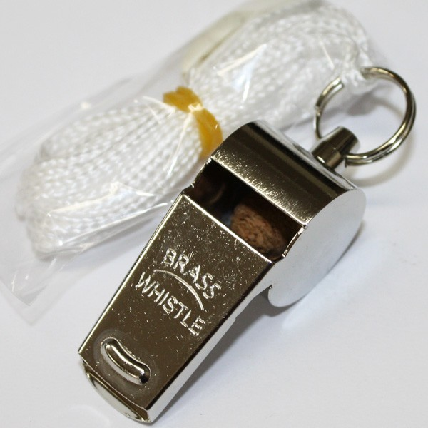 コルク入り真鍮呼子笛BRASSWHISTLE(ブラスホイッスル)