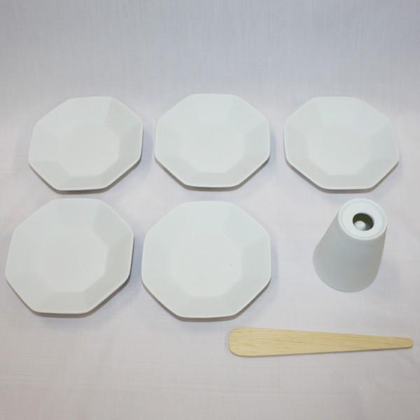 八角盛り塩セット八角皿5枚付き