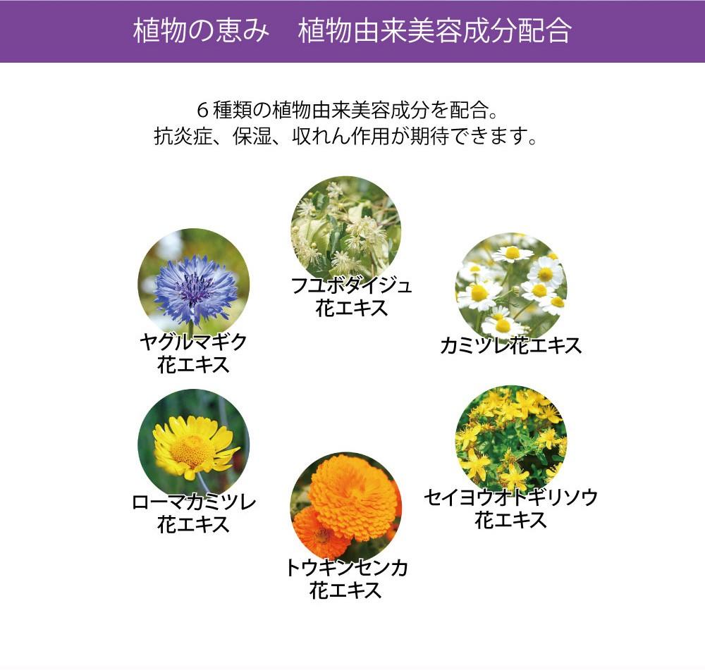 植物由来の美容成分配合